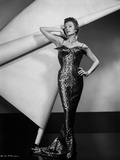 Rita Hayworth Leaning Posed in Gown Photo by  Movie Star News