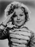 Shirley Temple Saluted in Black and White Photo by  Movie Star News