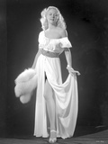 Gloria Grahame Posed in White Dress Photo by  Movie Star News