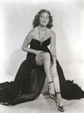 Rhonda Fleming wearing a Black Gown Photo by  Movie Star News