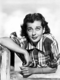 Gail Russell Posed in Checkered Shirt Photo by  Movie Star News