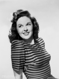 Susan Hayward Posed in a Stripe Shirt Photo by  Movie Star News