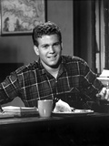 Ryan O'Neal Posed in Black and White Photo by  Movie Star News