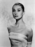 Audrey Hepburn Posed in White Dress Photo by  Movie Star News