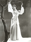 Loretta Young wearing a White Dress Photo by  Movie Star News