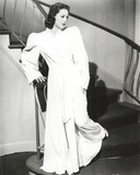Loretta Young Old Long White Dress Photo by  Movie Star News