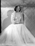Gracie Allen Posed wearing White Gown Photo by  Movie Star News
