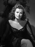 Barbara Hale on a Dark Dress sitting Photo by  Movie Star News
