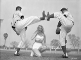 Jayne Mansfield Fighting in Classic Photo by Bert Six