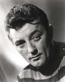 Robert Mitchum Posed in Striped Shirt Photo by  Movie Star News