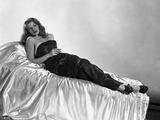 Rita Hayworth Lounging in Black Gown Photo by Robert Coburn