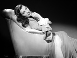 Ella Raines on a Gown sitting and posed Photo by  Movie Star News