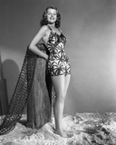 Rita Hayworth Pose in a Swimming Suit Photo by AL Schafer