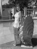 Rita Hayworth posed in White Swimwear Photo by  Movie Star News