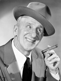 Jimmy Durante Posed in Suit with Cap Photo by  Movie Star News