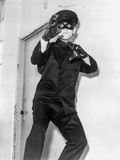 Bruce Lee in Black Suit Fighting Pose Photo by  Movie Star News