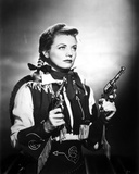 Gail Davis Holding Pistol in Classic Photo by  Movie Star News