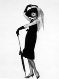 Audrey Hepburn Posed in Black Drfess Photo by  Movie Star News