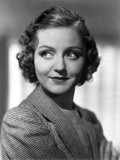 Nancy Carroll Portrait in Plaid Coat Photo by  Movie Star News