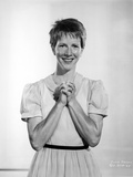 Julie Harris in Stripes Polo Portrait Photo by  Movie Star News