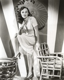 Paulette Goddard Posed with Umbrella Photo by  Movie Star News