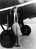 Amelia Earhart on Jet Tires Portrait Photo by  Movie Star News
