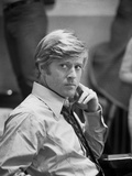 Robert Redford in White Shirt and Tie Photo by Howard Bingham