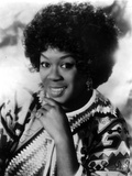 Sarah Vaughan in Black and White Portrait Photo by  Movie Star News
