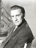 Kirk Douglas Seated in Fur Coat Portrait Photo by  Movie Star News