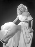 Gloria Grahame Posed in a White Dress Photo by  Movie Star News