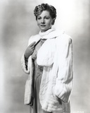 Joan Fontaine wearing a Fluffy Coat Photo by  Movie Star News