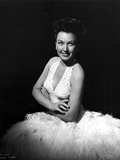 Ginny Simms smiling with White Gown Photo af  Movie Star News