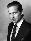 Michael Douglas Posed in Black Suit Photo by  Movie Star News
