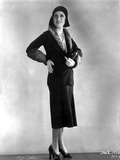 Fay Wray Posed in Black Two Piece Dress Photo by  Movie Star News