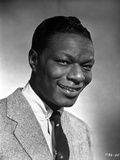 Nat Cole smiling in Black and White Photo by  Movie Star News