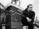 Marlon Brando sitting in Plaid Jacket Photo by  Movie Star News
