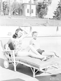 Ronald Reagan Seated on the Pool Side Photo by  Movie Star News