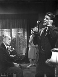 Elmer Gantry Talking in Black and White Photo by  Movie Star News