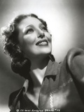 Loretta Young Look Up Black and White Photo by  Movie Star News