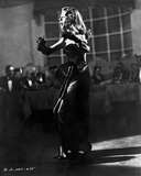 Rita Hayworth Performing in Black Gown Photo by Ned Scott
