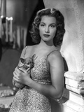 Linda Christian Portrait in Classic Photo by  Movie Star News