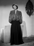 Myrna Loy Posed in Furry Gown Classic Photo by Gaston Longet