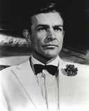 Sean Connery Portrait in White Tuxedo Photo by  Movie Star News
