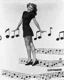 Rita Hayworth Musical Notes Background Photo by Ned Scott