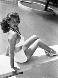 Rita Hayworth Seated on the Pool Side Photo by  Movie Star News