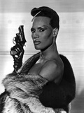 Grace Jones Holding Pistol in Classic Photo by  Movie Star News