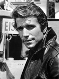 Henry Winkler in Leather Jacket Photo by  Movie Star News