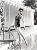 Ann Miller Posed at Swimming Pool Photo by  Movie Star News