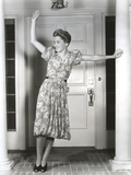 Joan Fontaine Leaning and Waving Photo by  Movie Star News