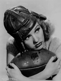 Betty Grable Posed with a Football Photo by  Movie Star News